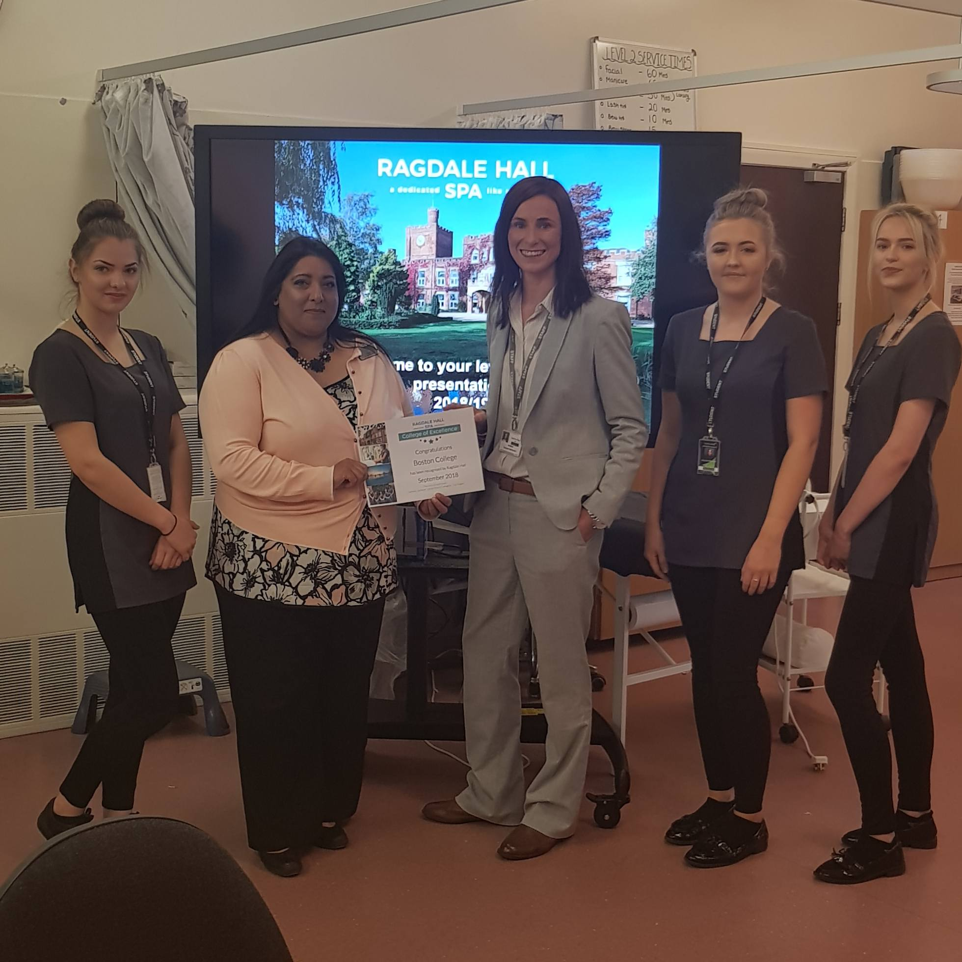 College of Excellence Presentation - Ragdale Hall Spa